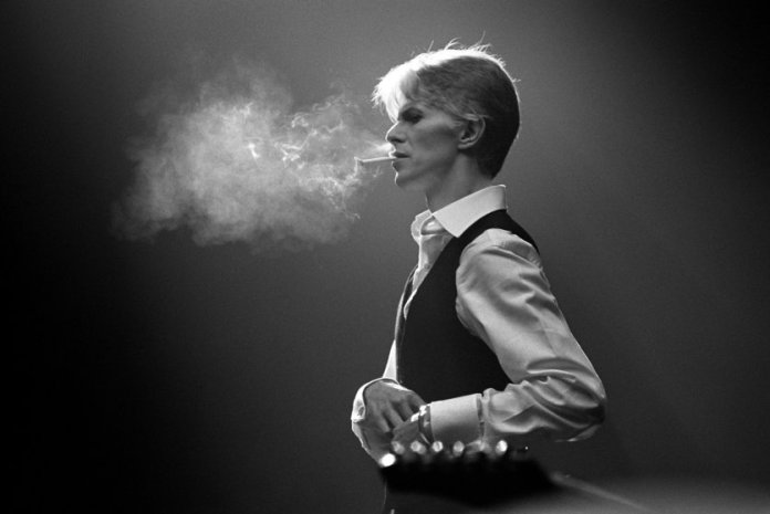 Bowie's Thin White Duke, smoking a Gitanes cigarette, 1976.